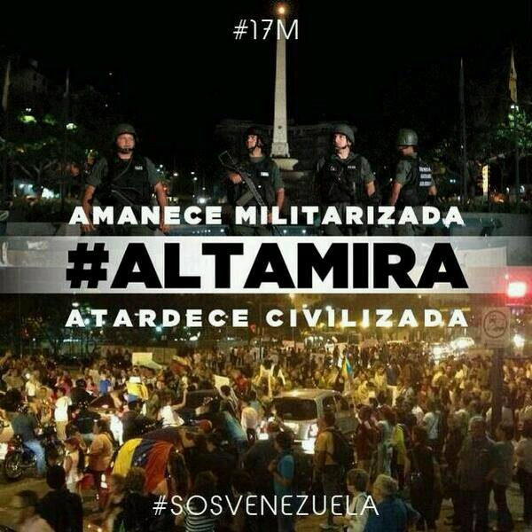 Altamira se réveille militarisée et se couche civilisée