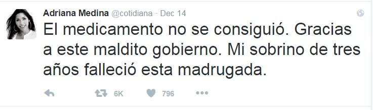 Adriana Tuit Maldito gobierno